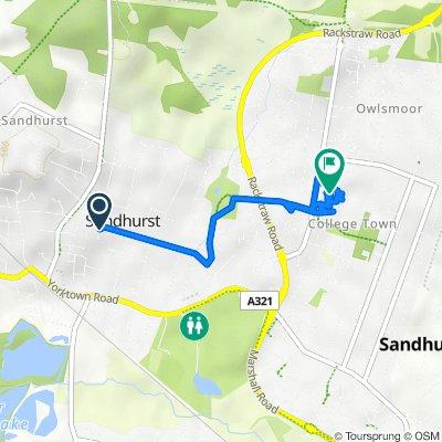85A Wellington Road, Sandhurst to 28 Owlsmoor Road, Sandhurst