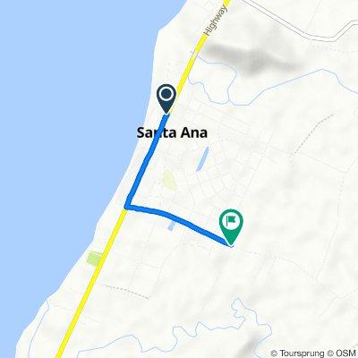 Dugo - San Vicente Road, Santa Ana to Unnamed Road, Santa Ana