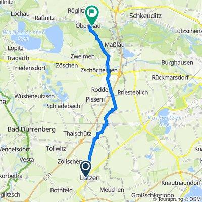 Ernst-Thälmann-Straße 43, Lützen nach Ammendorfer Straße 40, Schkopau