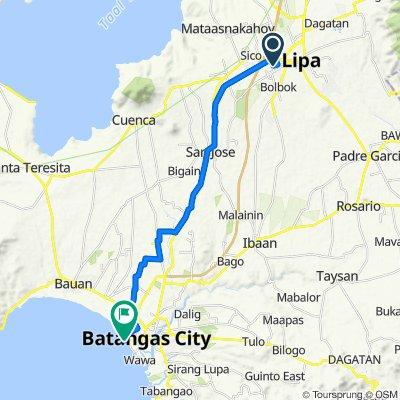M. Lina, Lipa to Passenger Terminal 2, Batangas