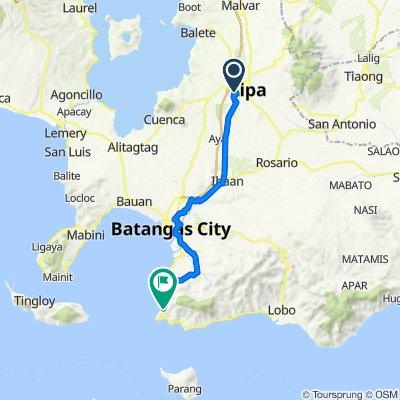 M. Lina, Lipa to Batangas - Tabangao - Lobo Road