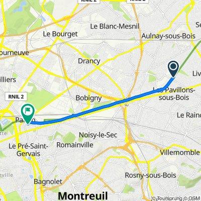 De 18 Allée de l'Abbé Alfonsi, Les Pavillons-sous-Bois à 22–30 Rue Victor Hugo, Pantin