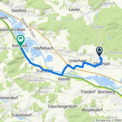 Kastanienweg 2, Oberhaid nach Frankenstraße 36, Eltmann