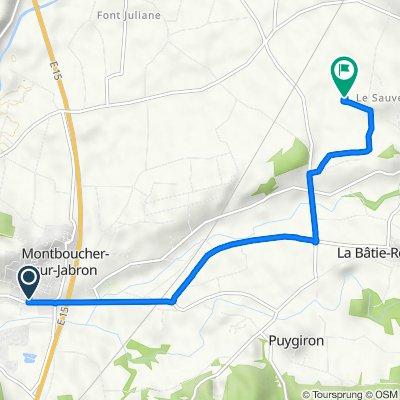 De 350A Route de Montélimar, Montboucher-sur-Jabron à 340 Impasse Clarette, Bonlieu-sur-Roubion