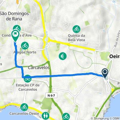 Rua Henrique de Paiva Couceiro, Oeiras to Rua de Braga 45–69a, Carcavelos