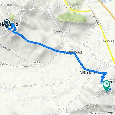 Via Guglielmo Marconi 79, Castelfidardo to Via Marche 45, Loreto