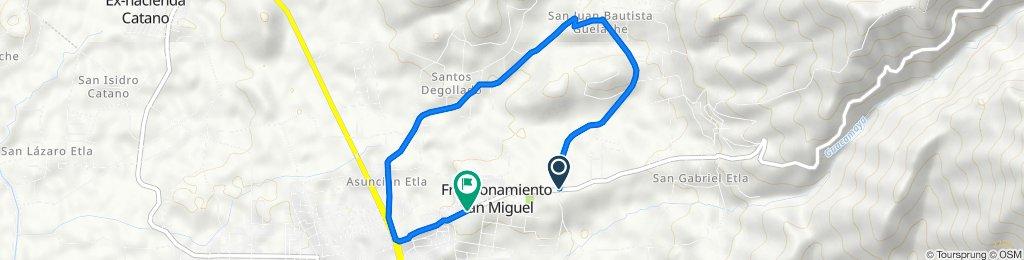 De Carretera San Miguel Etla - San Juan Bautista Guelache, San Miguel Etla a Carretera E.C. 5–8, Fraccionamiento San Miguel