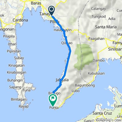 Sagbat-Pililla Diversion Road, Pililla to Pililla-Jala-jala-Pakil Road, Jala-Jala