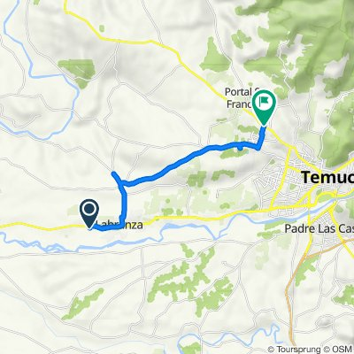 De S-30/ km 1,6, Labranza a S-20/ km 0,7, Temuco