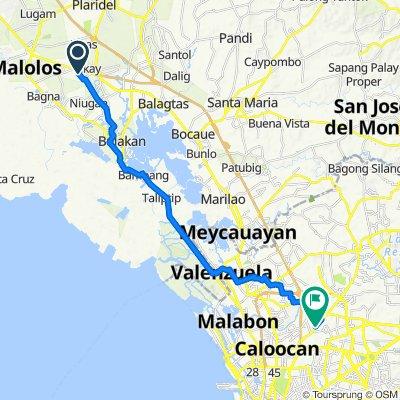 Camia Street 679, Malolos to Quirino Highway 208, Quezon City