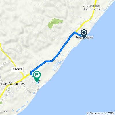 De Rua Carlos Zacarias, 131, Camaçari a Rua Poente, 64, Camaçari