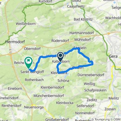 Kaltenborn 24, Kraftsdorf nach Werner-Seelenbinder-Straße 66A, Sankt Gangloff