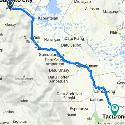 Route to Tacurong City