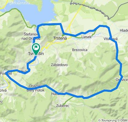 Tvrdošín - Ústie nad Priehradou - Trstená - Vitanová - Oravice - Zuberec
