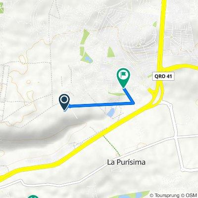 Ruta a Privada La Vista, Santiago de Querétaro