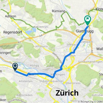 Vulkanstrasse 200, Zürich do Plattenstrasse 44–46, Glattbrugg