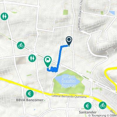Calle Ferrocarrileros 19, Santiago de Querétaro to Calle del Lago de Chapala 168-F, Santiago de Querétaro