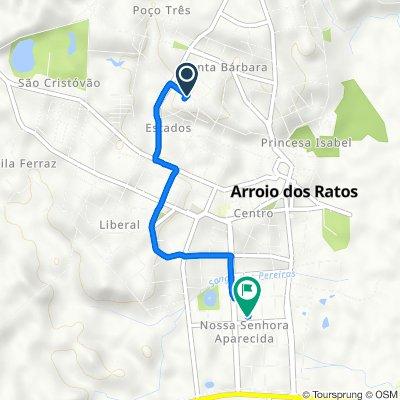 De Rua Henrique Lounge, 2–142, Arroio dos Ratos a Rua Cassiano Louzada, 176–396, Arroio dos Ratos
