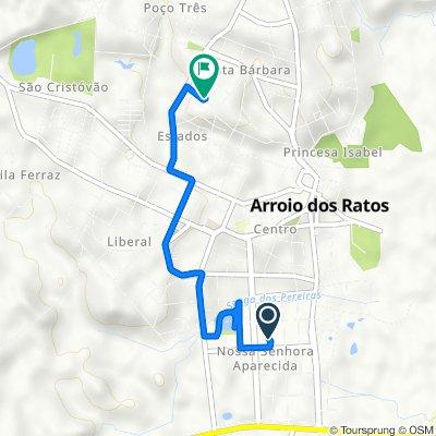 De Rua Cassiano Louzada, 176–396, Arroio dos Ratos a Rua Henrique Lounge, 2–142, Arroio dos Ratos