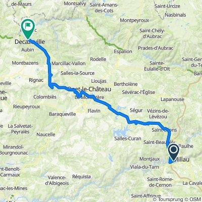 De Impasse Paul Marres 230, Millau a Route de Nantuech 265, Decazeville