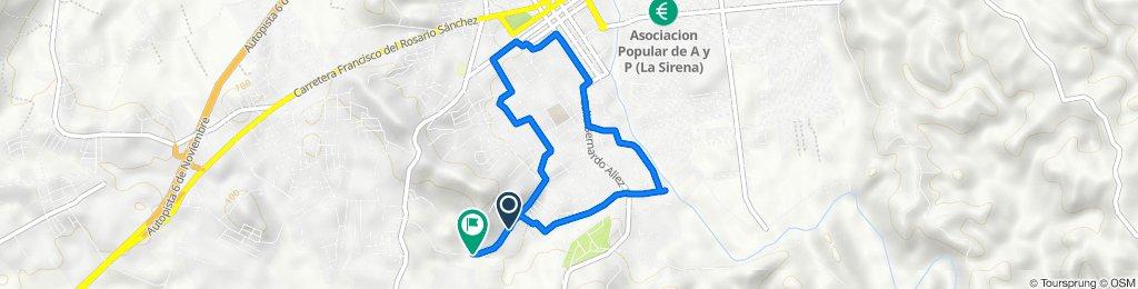 De Calle Prolongación Teo Cruz, San Cristóbal a Calle Prolongación Teo Cruz, San Cristóbal