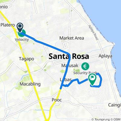 Rizal Boulevard 3, Santa Rosa to Andromida Street 62, Santa Rosa