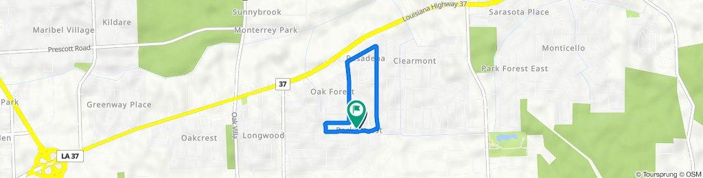 Aletha Drive 3426, Baton Rouge to Aletha Drive 3445, Baton Rouge