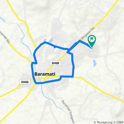 Unnamed Road, Baramati to Unnamed Road, Baramati