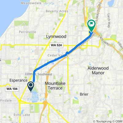 Route to 18405 Alderwood Mall Pkwy, Lynnwood