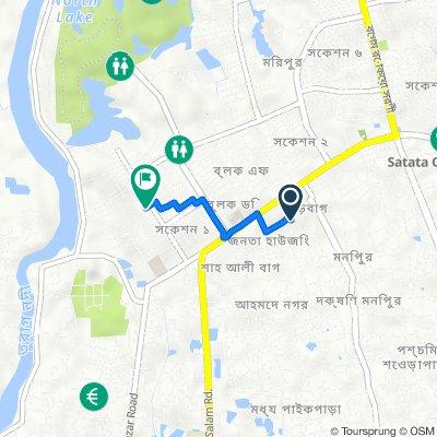 ঢাকা বিভাগ to Road No. 6, Dhaka