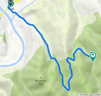 Tvrdošín - Krátky potok - Hubertov Prameň (prístrešok)