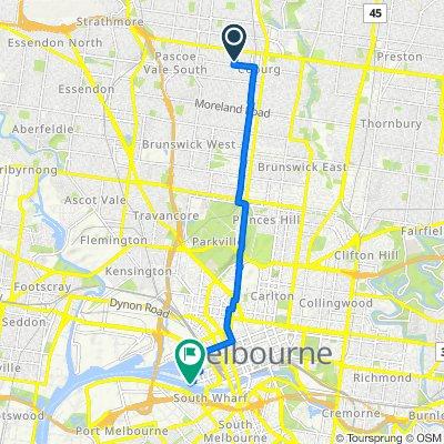 14 Alice Street, Coburg to 867 Collins Street, Docklands