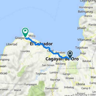 Cagayan de Oro to Unnamed Road, Laguindingan