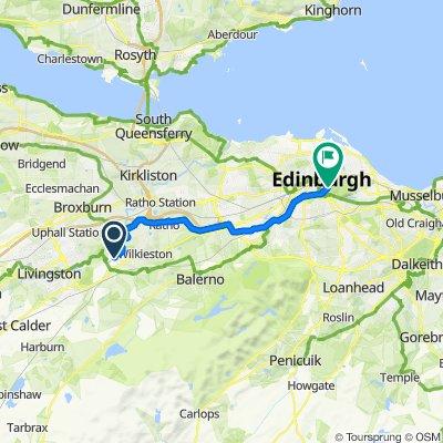 High-speed route in Edinburgh