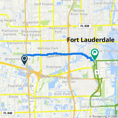 5170 SW 19th St, Plantation to 400–408 SE 17th St, Fort Lauderdale
