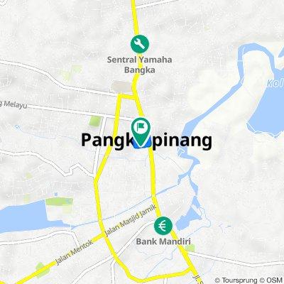 Jalan Diponegoro No.1, Kecamatan Taman Sari to Jalan Surabaya 27, Kecamatan Taman Sari