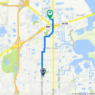 6635 Dr Martin Luther King Jr St N, Saint Petersburg to 10600 Fourth St N, Saint Petersburg