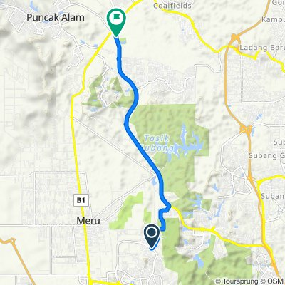 Setia Alam to DragonFly Park Highway