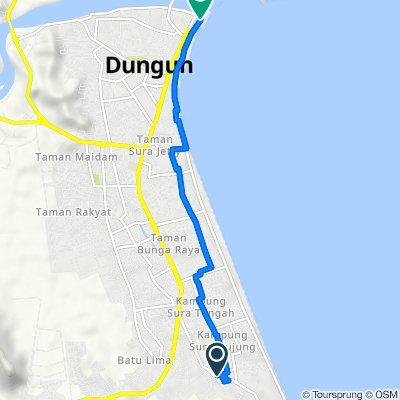 2934–2941, Lorong Surau 5/4, Dungun to K27–K33, Jalan Lim Teck Wan, Dungun
