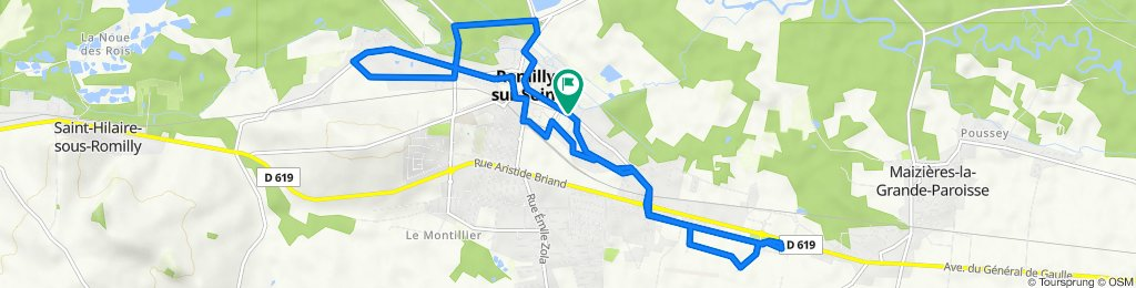 Parcours Romilly intra-muros