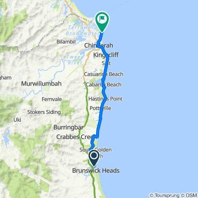 Brunswick to Tweed Beach and River Ride (Trekking e-bikes )