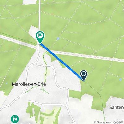 De Allée de Rire aux Vaches, Santeny à Porte de Lésigny, Marolles-en-Brie