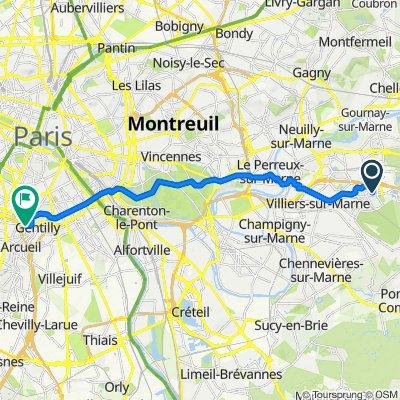 Itinéraire à partir de 19–29 Boucle de la Nacelle, Noisy-le-Grand