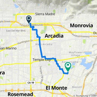 3571-A E Foothill Blvd, Pasadena to 4921 Cedar Ave, El Monte