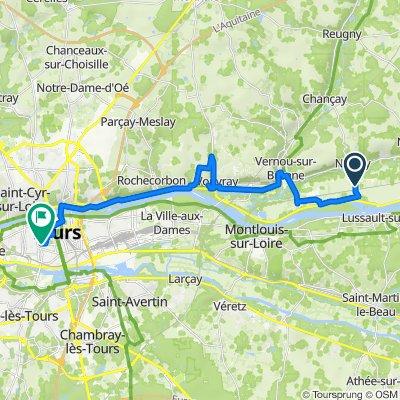 De Avenue Octave Pardou, Noizay à 176 Rue de Boisdenier, Tours