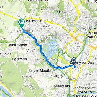 De 1 Chemin de la Carrière à Pépin, Neuville-sur-Oise à 2 Rue Passe-Partout, Cergy