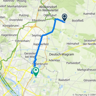 Großengersdorf nach Wien22