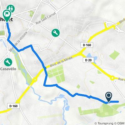 25–47 Avenue du Parc, Cholet to Rue du Bourg Baudry, Cholet