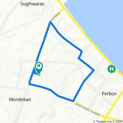 Jalan Lombok 23, Kecamatan Tuban to Jalan Lombok 25, Kecamatan Tuban