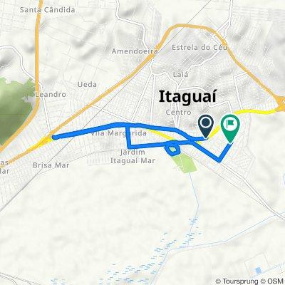 De Estrada Deputado Octavio Cabral, 452, Itaguaí a Rua Argentina, 34, Itaguaí